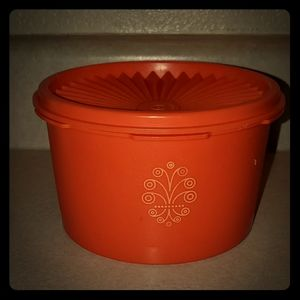 Vintage orange Tupperware